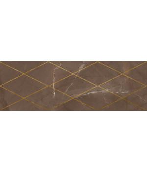 Настенная плитка декор Миланезе Дизайн 1664-0147 20х60 римский марроне