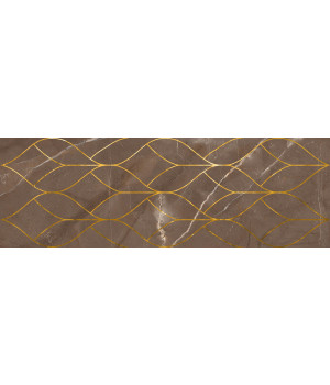 Настенная плитка декор Миланезе Дизайн 1664-0158 20х60 тресс марроне
