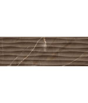 Настенная плитка Миланезе Дизайн 1064-0164 20х60 марроне волна