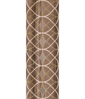 Настенная плитка декор Модерн Марбл 1664-0007 20х60 темная