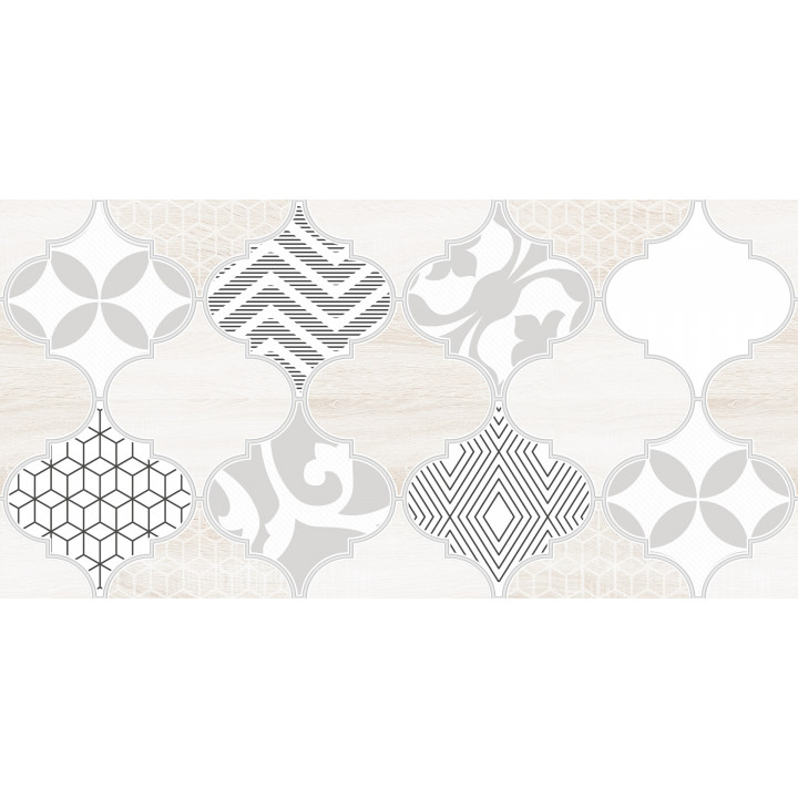 1641-8626   Настенная плитка декор2 Мореска 1641-8626 20х40 бежевая Lasselsberger Ceramics