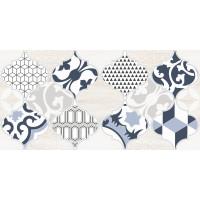 Настенная плитка декор1 Мореска 1641-8629 20х40 синяя