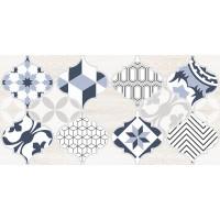Настенная плитка декор2 Мореска 1641-8630 20х40 синяя