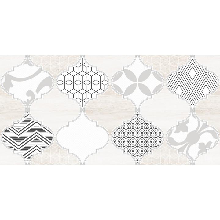 1641-8625   Настенная плитка декор Мореска 1641-8625 20х40 бежевая Lasselsberger Ceramics
