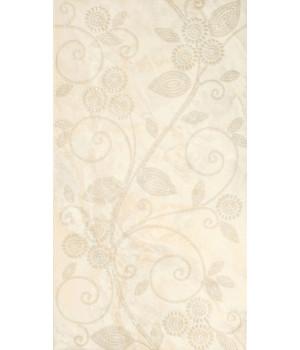 Настенная плитка Оникс жемчуг декор 1645-0045 25x45 бежевый