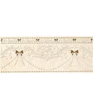 Бордюр настенный Оникс Сенс 1501-0035 25x10 бежевый