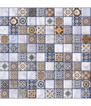 Настенная плитка арт-мозайка Орнелла 5032-0200 30х30 универсальная синяя