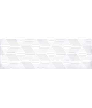 Настенная плитка декор Парижанка 1664-0184 20x60 гексагон белая