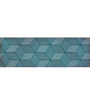 Настенная плитка декор Парижанка 1664-0185 20x60 гексагон бирюзовая