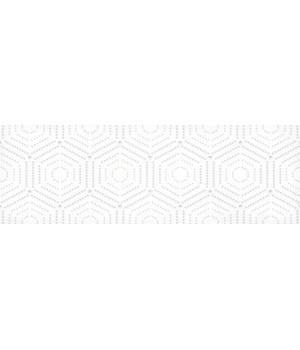 Настенная плитка декор Парижанка 1664-0183 20x60 геометрия белая