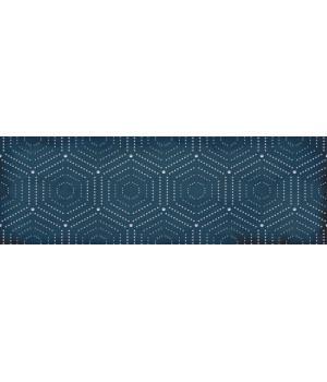 Настенная плитка декор Парижанка 1664-0180 20x60 геометрия синяя