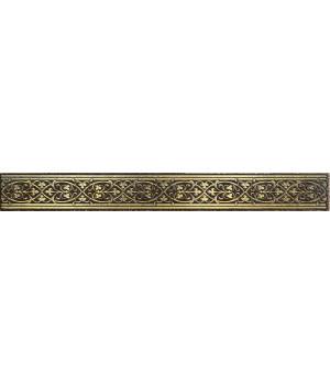 Бордюр настенный Катар 1502-0578 2,8х25 коричневый