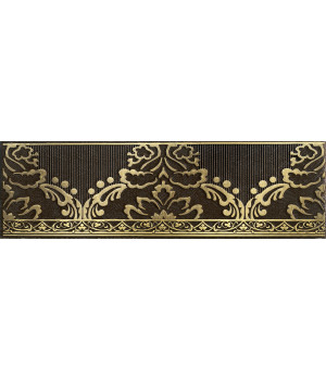 Бордюр настенный Катар 1502-0576 7,5х25 коричневый