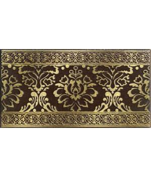 Бордюр настенный Катар 1502-0574 13x25 коричневый
