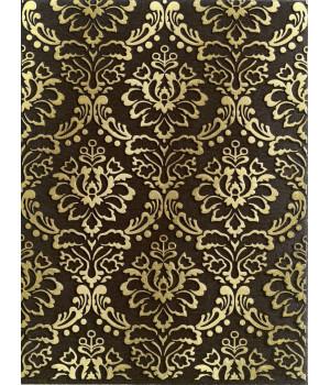 Настенная плитка декор Катар 1634-0091 25х33 коричневый