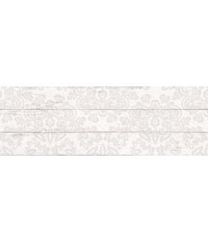 Настенная плитка Шебби Шик декор 1064-0097 20х60 белая