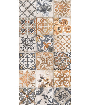 Настенная плитка декор Сиена 1041-0163 20х40 универсальная