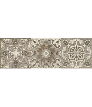 Керамогранит декор Травертино 3064-0004 20х60 орнамент