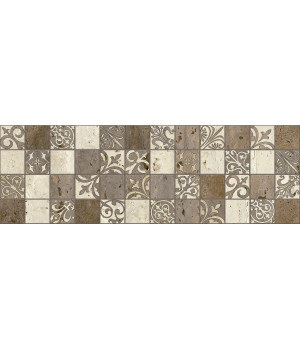 Керамогранит декор Травертино 3064-0002 20х60 мозаика