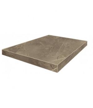 Керамическая ступень Портофино серый угловая левая