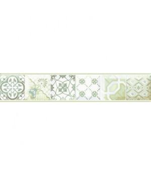 Керамический бордюр Равенна зеленый