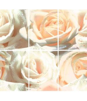 Керамическое панно Роуз D (из 6 плиток)